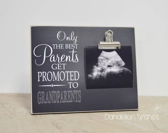 Only The Best Parents Get Promoted to Grandparents Photo Frame, New Grandparent Gift, Pregnancy Announcement Gift For Grandparents, 8x10 **