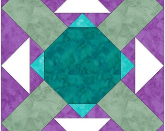 All Kinds 15 Inch Block Paper Template Quilting Block Pattern PDF