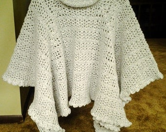 The Evening Chill Poncho / Cowl Neck Poncho