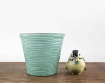 Vintage McCoy Jardiniere, Light Blue Green Flower Pot, McCoy Pottery, Garden Decor, Small Flower Pot, Succulent Planter, Plant Pot