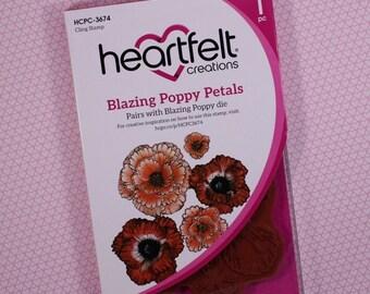 Heartfelt Creations Cling Rubber Stamp Set ~ Blazing Poppy Petal, HCPC3674