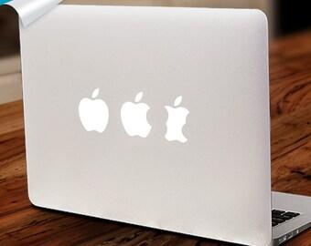 Apple Evolutioin Mac Decal Macbook Sticker Vinyl Laptop Decals Apple Eaten