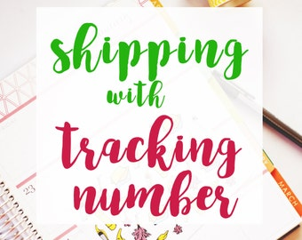 Tracked shipping w/ tracking number for your order!