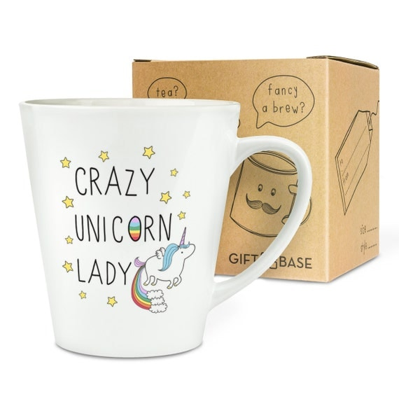 Items Similar To Crazy Unicorn Lady 12oz Latte Mug Cup On Etsy