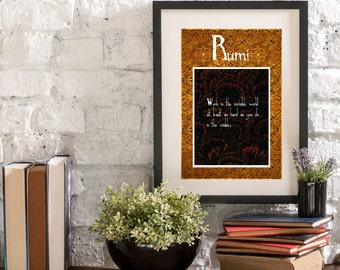 November Invisible World A Year of Rumi Inspirational Quote Artwork Print Poster