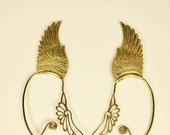 Elf Ear Cuffs Angel Wing Brass