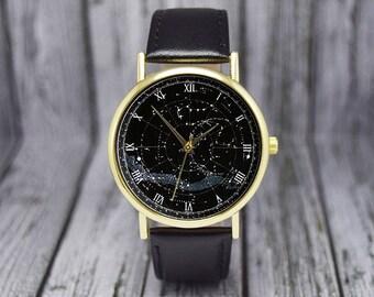 Vintage Northern Constellation Watch | Celestial Map | Stars | Northern Hemisphere | Ladies Watch | Men's Watch | Gift Ideas | Accessories