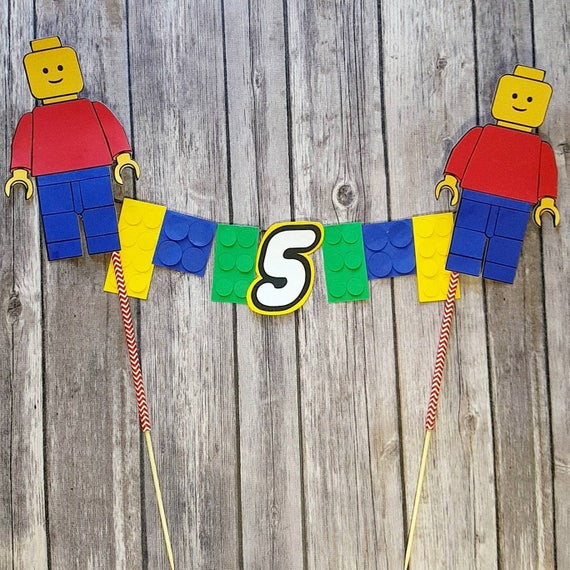Lego Cake Topper with Age