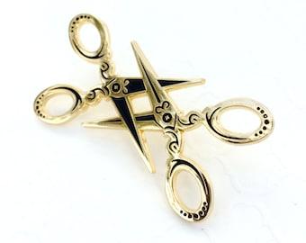Scissor enamel pin