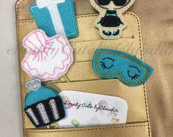 Cutie Glam Breakfast Collection Felt Planner Clips, Feltie Clips, Planner Accessories, Tiffany Blue, Planners, Glam Planner Clips