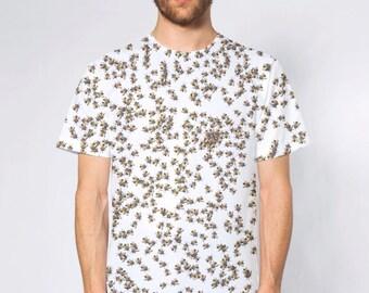 Beekeeping Swarm Of HoneyBees Sublimated T-Shirt American Apparel
