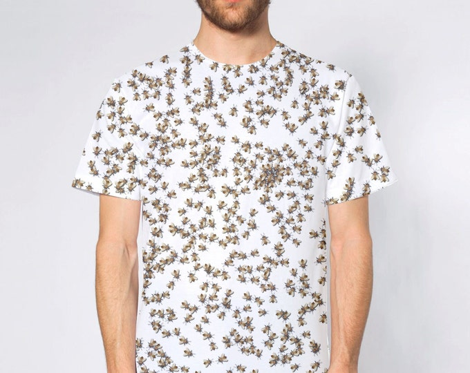 Beekeeping Swarm Of HoneyBees Sublimated T-Shirt American Apparel