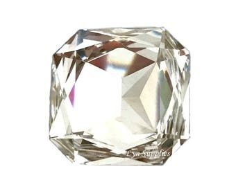 4675 CRYSTAL 23mm Swarovski Crystal Square Fancy Stone, Large Octagon Square
