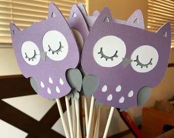 Owl Centerpieces set of 12/ Owl baby  shower