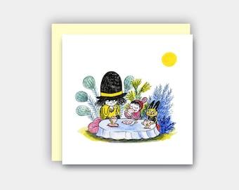 Teatime Greetings Card , Birthday Card