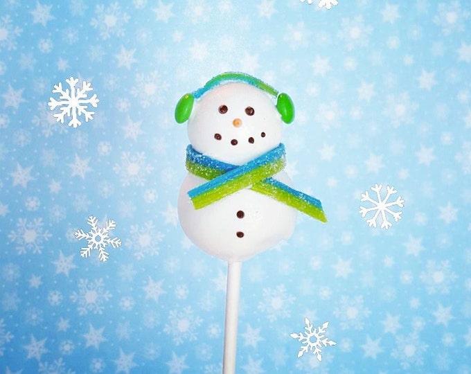 Featured listing image: Snowman cake pops. Stocking treats. Christmas treats. Christmas cake pop. Christmas party decor. Tree pop. Snow globe. Gingerbread