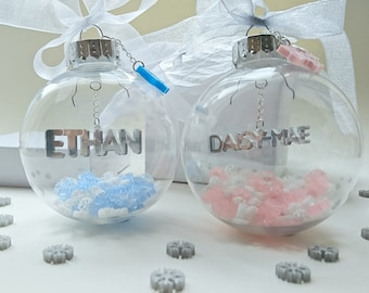 BABY'S 1st CHRISTMAS Personalised Bauble