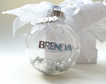 PERSONALISED Christmas Baubles, 2016