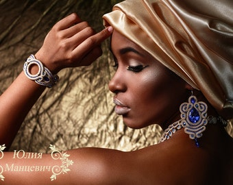 Soutache, necklace, bracelet and se'g