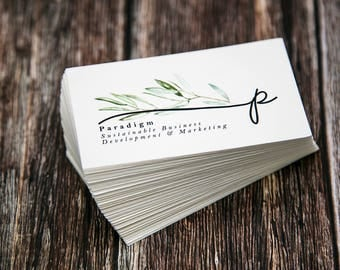 Business Cards | Pointed Corners | Custom Personalized Business Cards | Mommy Calling Cards | Social Media Cards