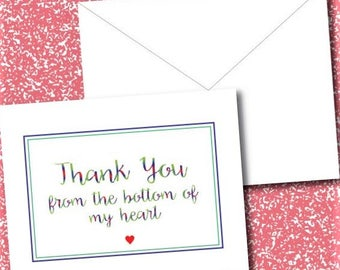 10 A1- Thank You Folding Cards