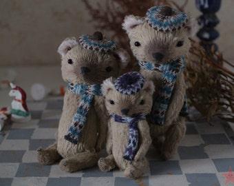 """Artist teddy bear 4"""" tall baby"""