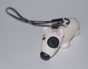 Quirky Bull Terrier Phone Charm