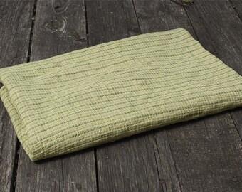 Green linen bathroom towel, yellow linen towel, pure linen towel, rustic linen towel, flax towel, eco friendly towel, flax bathroom towel