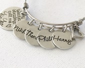 My greatest blessings - Hand stamped bracelet - Grandmother's bracelet - Grandma Nana Yia Yia jewelry - Personalized bracelet - Stainless