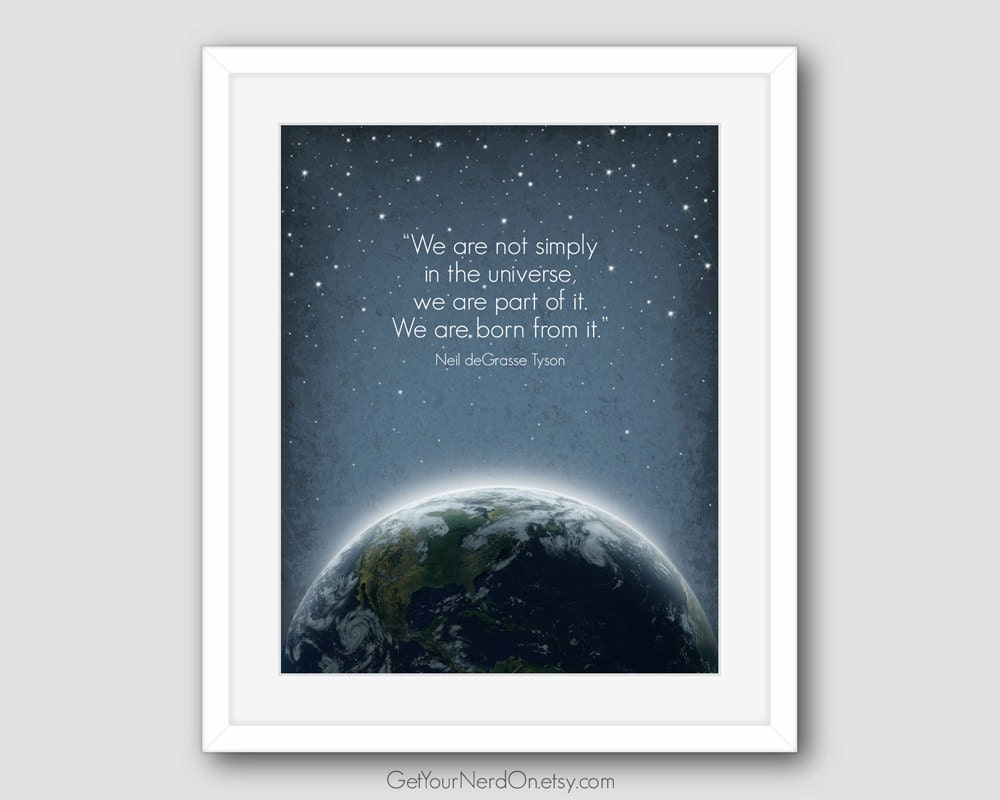 Inspirational Quote Astronomy Poster Space Nursery Decor