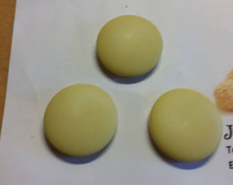 3  yellow   1950's jacket buttons 28 mm diameter 020517/11