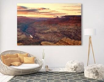 Grand Canyon Fine Art Photography Print, Sunset, Lipan Point, Arizona, metallic print, canvas, standout mount, landscape wall art