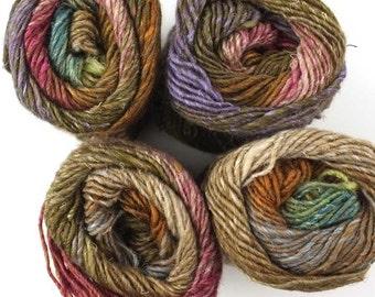 Noro Silk Garden, color 279, brown, purple, rose - mohair, wool, silk knitting yarn