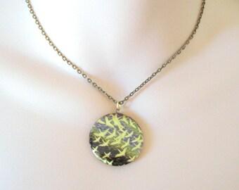 The Birds Locket, Romantic Necklace, Boho Locket, Brass Locket, Vintage Inspired
