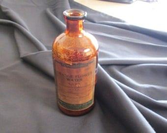 Burrough Bros. Mfg. Co Orange Flower Water Syrup Bottle