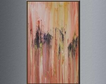 "25""x 15"" Ghost in the rain oil painting original ,oil painting abstract , oil painting on canvas , oil painting seascape  lU-012 by Lucas Wu"