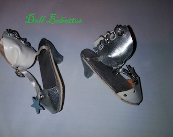 Silver Star for BJD MSD girl sandals