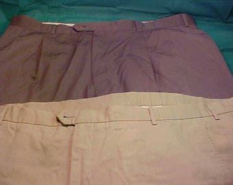 Two Mens Size 44 Dress Pants/Trousers  Burberry and Faconnable