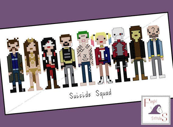 Suicide Squad Parody Cross Stitch - PDF Pattern - Instant Download
