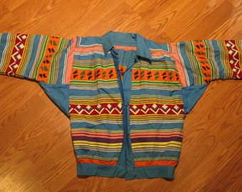 Seminole Native American Patchwork Jacket Vintage