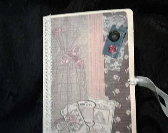 Vintage sewing journal, diary, book