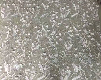 5yards wedding lace ,embroidery lace with 3D flower, white lace fabric -9184