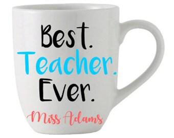 Best Teacher Ever Mug Student School Coffee Tea Gift Mug