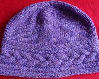 Fine Heather Donegal Tweed Cloche / Hat