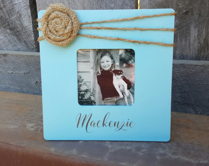 Personalized Picture Frame - Photo Frame - Custom Photo Frame - Shabby Chic Frame - Rustic Picture Frame - Distressed