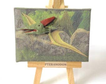 Pteranodon emerging from Miniature 'Painting'