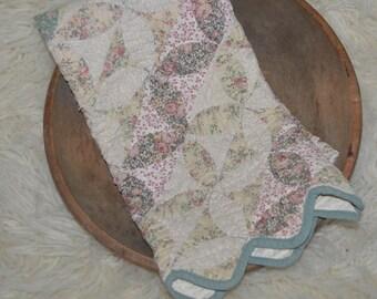 RTS Vintage Shabby Chic Quilt Layer / Mini Blanket - Newborn / Toddler Photography Prop Layer, Basket Stuffer