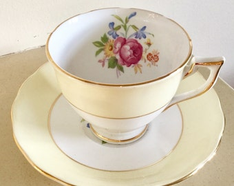 Vintage Melba Floral Cup and Saucer