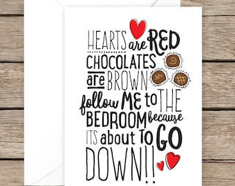 naughty valentines day card sexy valentines day card for husband wife girlfriend - Naughty Valentine