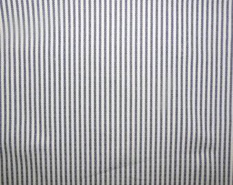 Fabric - Navy - Ticking stripe medium/heavyweight cotton canvas
